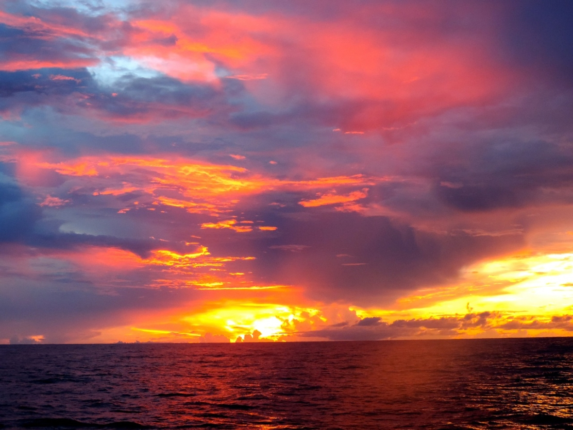 Sunrise at sea. Image credit: Diva Amon