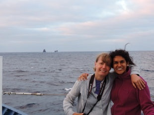 Dr. Helena Wiklund and I off Mexico.