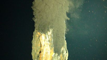 One of the chimneys at Beebe Vent Field. Photo credit: NERC.