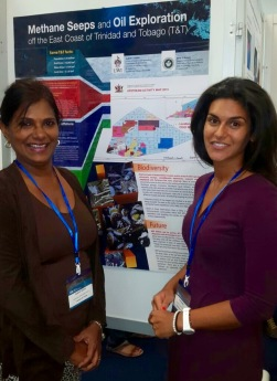 Dr. Judith Gobin and I in front of our poster.