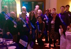 WhaleFest speakers sporting our sashes just before the banquet.