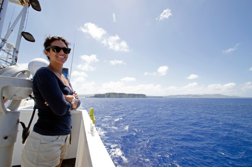 Saying goodbye to Guam and excited for what the expedition was going to bring! Photo credit: NOAA's Office of Ocean Exploration and Research